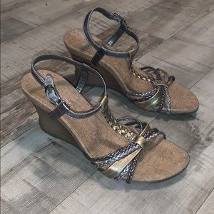 Kenneth Cole Reaction Wedge Sandals Size 6.5